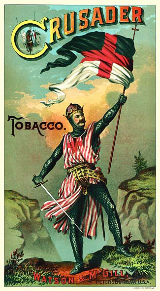 image of an advertisement for Crusader tobacco